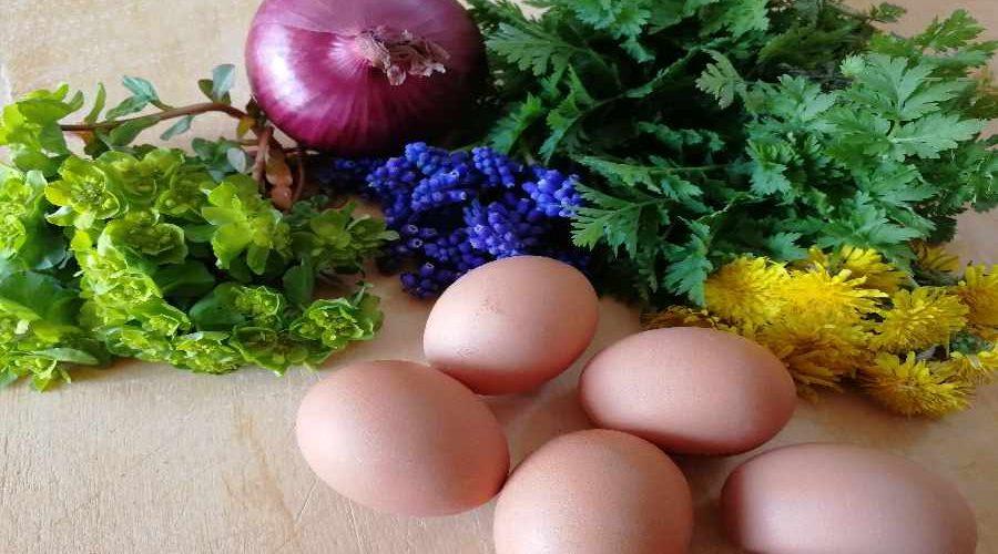 fiori e uova